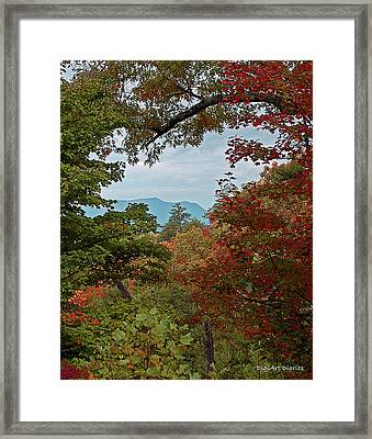 Peeking At The Smokies Framed Print by DigiArt Diaries by Vicky B Fuller
