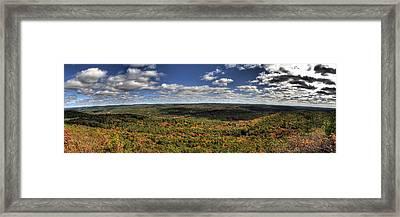 Peeking Autumn Framed Print by Nicholas Damario