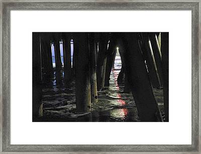 Peeking Framed Print by Lora Lee Chapman