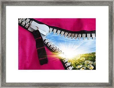 Peeking Spring Framed Print