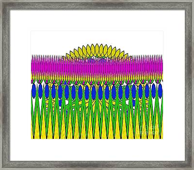 Peeking Sun Abstract By Kaye Menner Framed Print