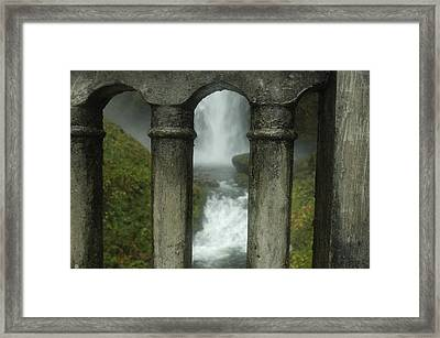 Peeking Through Framed Print by Lori Mellen-Pagliaro