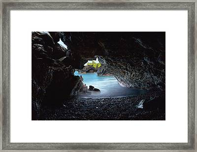 Framed Print featuring the photograph Peeking Through The Lava Tube by Susan Rissi Tregoning
