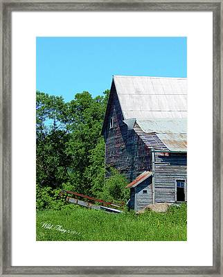 Peeling Back Time Framed Print by Wild Thing