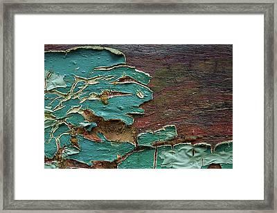 Peeling Framed Print by Mike Eingle