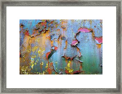 Peeling Paint And Rust Textures 135 Framed Print