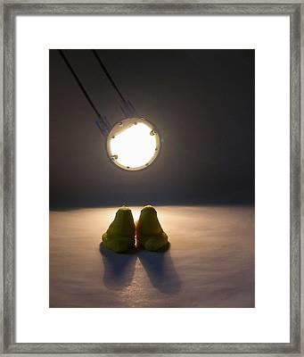 Peep Romance Framed Print by David April