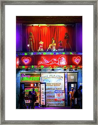 Times Square Peep Show Framed Print by Mark Andrew Thomas