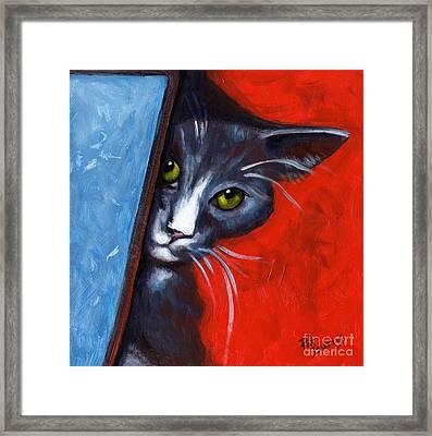 Peeping Tom Framed Print by Pat Burns