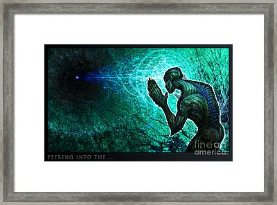 Peering Into The... Framed Print by Tony Koehl