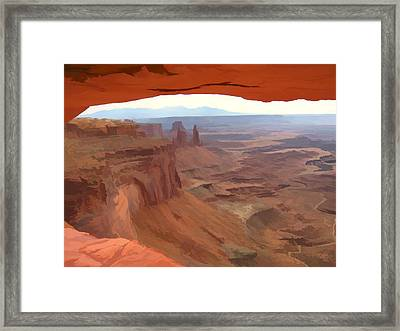 Peering Out 2 Watercolor Framed Print