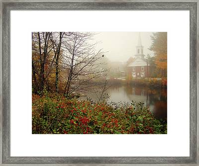 Foggy Glimpse Framed Print