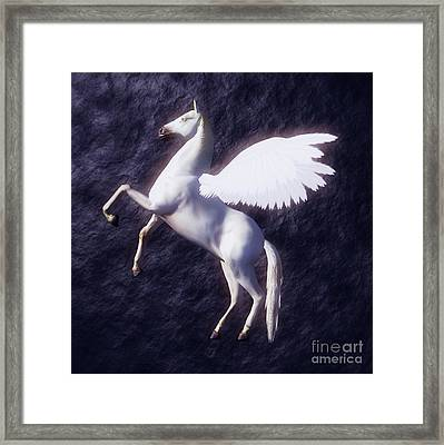 Pegasus By Sarah Kirk Framed Print