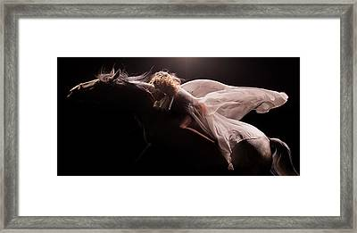 Framed Print featuring the photograph Pegasus by Dario Infini