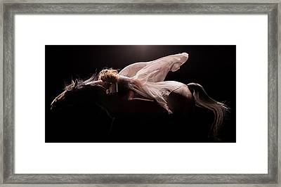 Framed Print featuring the photograph Pegasus Full by Dario Infini