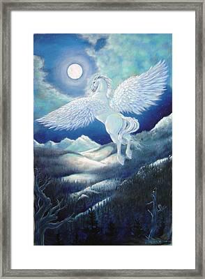 Pegasus Framed Print by Heather Calderon