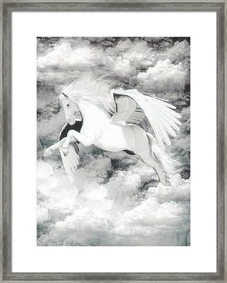 Pegasus Light  Framed Print by Quim Abella
