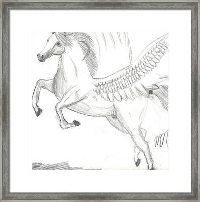 Pegasus Framed Print by Maddi Pollihan