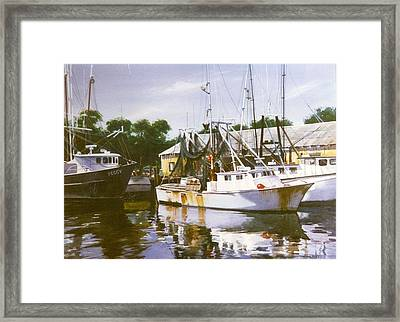 Peggy And The Breadwinner Framed Print by Marion  Hylton