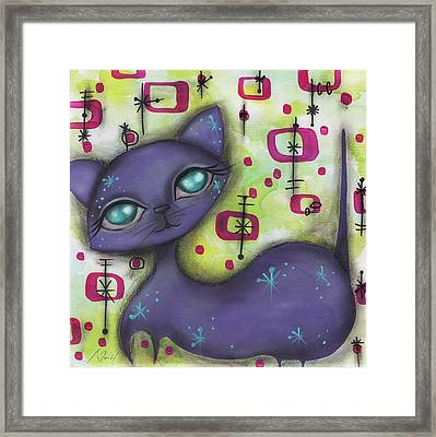 Peggy Cat Framed Print by Abril Andrade Griffith