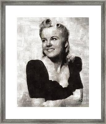 Peggy Lee, Singer Framed Print