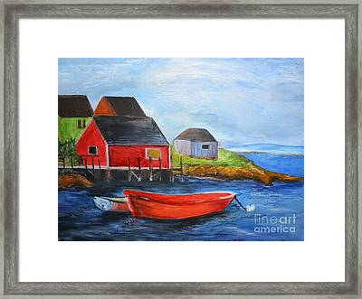 Framed Print featuring the painting Peggy by Sibby S
