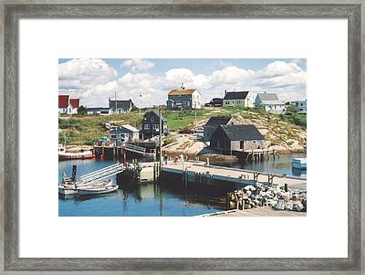 Peggy's Cove Framed Print by Andrea Simon