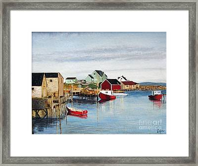 Peggy's Cove Framed Print by Donald Hofer