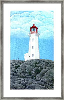Peggy's Cove Lighthouse Painting Framed Print by Frederic Kohli