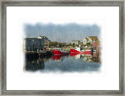 Framed Print featuring the photograph Peggys Cove Marina by Dan Friend