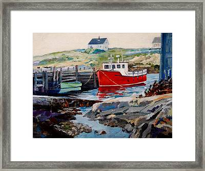 Peggys Cove Framed Print by Michael McDougall
