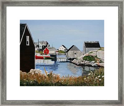 Peggys Cove Nova Scotia Framed Print