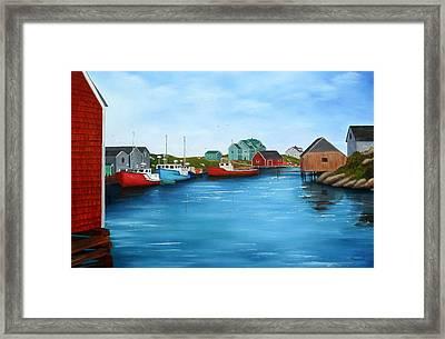 Peggys Cove Nova Scotia Framed Print by Sharon Steinhaus