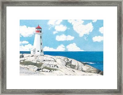 Peggy's Cove Nova Scotia Framed Print by Wilfrid Barbier