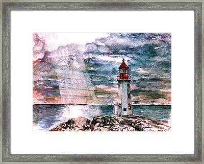 Peggy's Cove Framed Print by Paul Sandilands