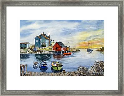 Peggys Cove  Framed Print by Raymond Edmonds