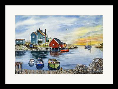 Fishing Village Framed Prints