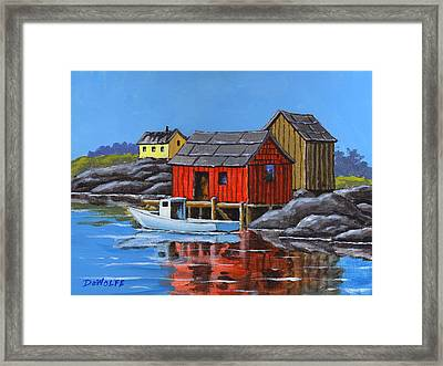 Peggys Cove Framed Print by Richard De Wolfe