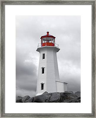 Peggy's Cove Tranquility  Framed Print by Betsy Knapp