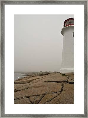 Peggy's Lighthouse Framed Print by Mark Highfield