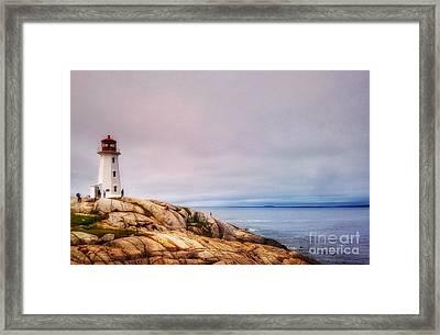 Peggys Point Lighthouse Framed Print
