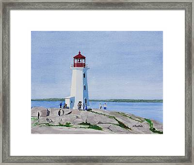 Peggy's Point Lighthouse Framed Print