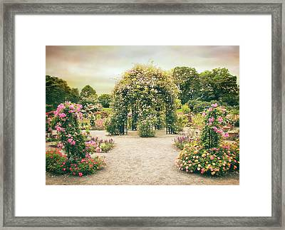 Peggy's Rose Garden Framed Print by Jessica Jenney