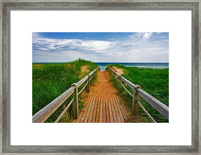 Pei Beach Boardwalk 2 Framed Print