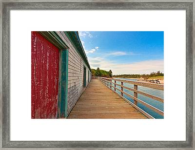 Pei Beach Boardwalk Framed Print