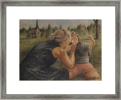 Peinture De Visage Framed Print