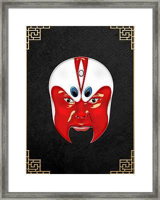 Peking Opera Masks - Wen Zhong Framed Print