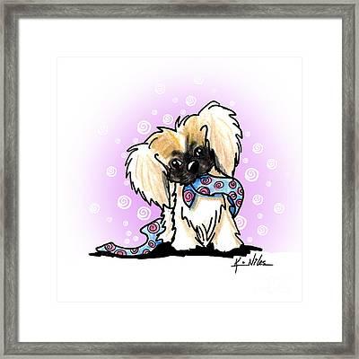 Pekingese Puppy Framed Print by Kim Niles