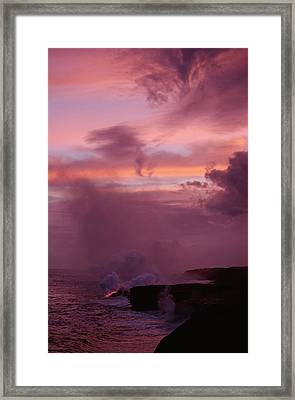 Framed Print featuring the photograph Pele by Gary Cloud