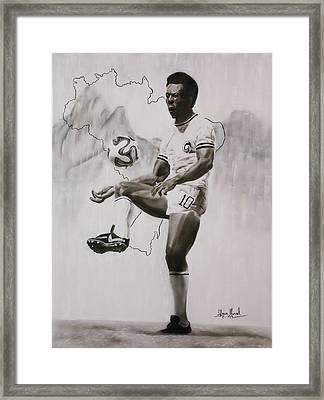 Pele Tribute Framed Print by Shawn Morrel